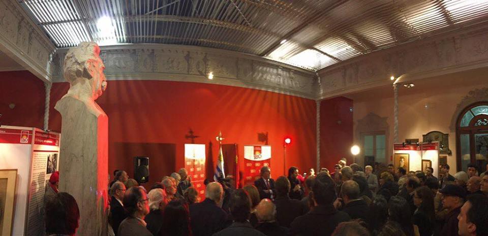 Presentación de la muestra histórica en conmemoración de los 180 años del Partido Colorado.
