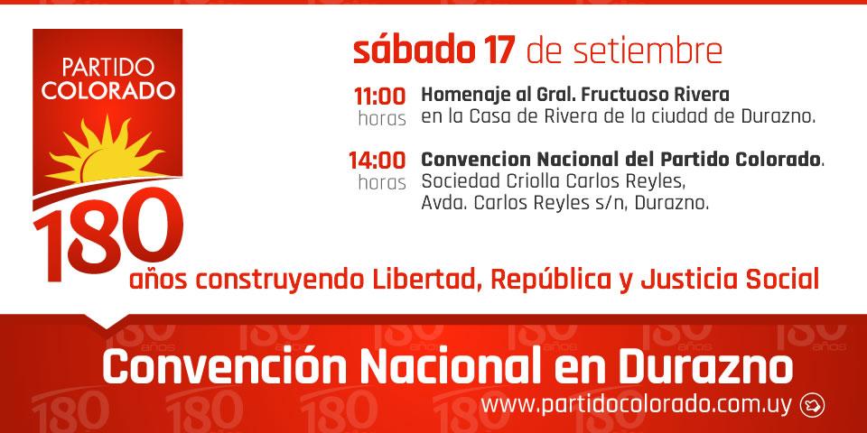 Convención Nacional en el departamento de Durazno.