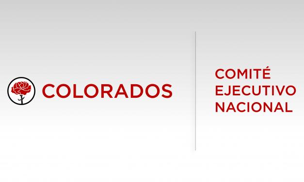 """COMITÉ EJECUTIVO NACIONAL DEL PARTIDO COLORADO SOBRE EL TEMA """"CINCUENTONES""""."""