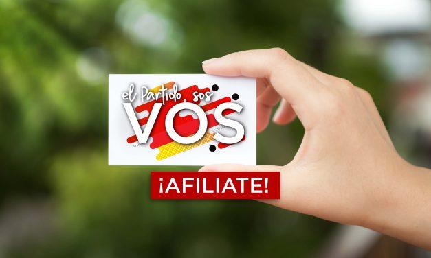 PARTIDO COLORADO LANZA CAMPAÑA DE AFILIACIONES